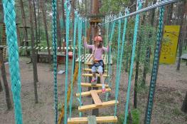 Piła Atrakcja park linowy GeoPark linowy